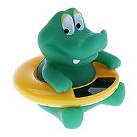 D DOLITY ベビー 湯温度計 水温計 乳幼児 入浴用 かわいい おもちゃ デジタル  全5種   - グリーンクロコダイル