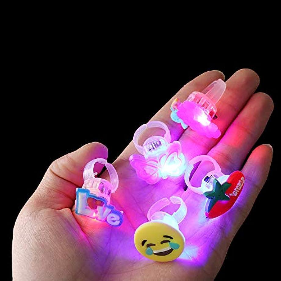 予測する推定する守る5ピース/セット発光リング新しい子供のおもちゃフラッシュギフトLed漫画ライト暗闇で光る子供のおもちゃ子供のための夜遊び