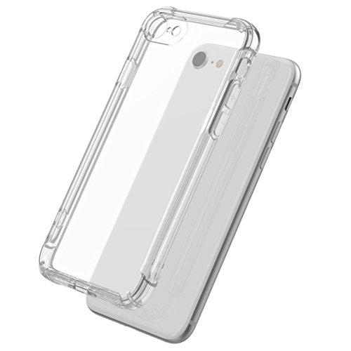 Zhhlaixing 携帯電話の保護 Airbag Waterproof Scratch-resistant Transparent Silicone Ultra-thin Mobile Phone Protection Shell Outer Case for iPhone 7 Plus/iPhone 8 Plus
