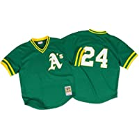 Rickey Henderson Oakland Athletics MLB Mitchell & Ness Authentic 1991 BP Jersey