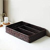 DCAH ストレージバスケット海藻デスクトップパーティションストレージボックスカトラリーバスケット食器ナプキン仕上げプレート Laundry basket (色 : 黒)