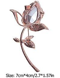 Ecotrump エレガントブーケブローチ 高品質綺麗なローズ ブローチ 花柄 女性 アクセサリー キラキラ