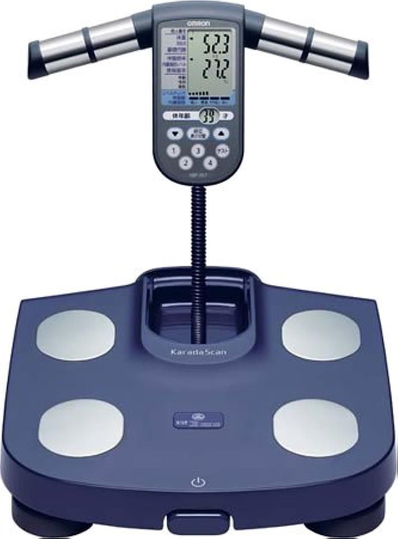 OMRON 体重体組成計 カラダスキャン[チェック] ネイビー HBF-357-A