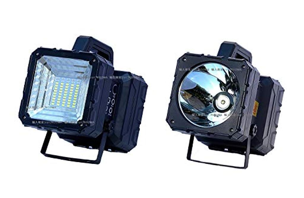 スワップエゴマニア大人LED 充電式 投光灯 作業灯 サーチライト 野外照明 ガーデンライト 多機能 ポータブル バッテリー 日本語使用説明書 付