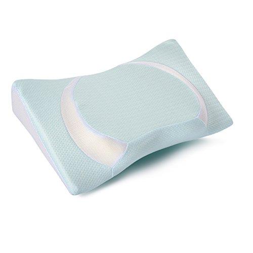 Adokoo 頭·首·肩·腕をやさしく支える健康枕 低反発まくら 頚椎サポート いびき防止 気道確保 肩こり対策 ストレス解消 横向き対応 快眠 洗える ピロー
