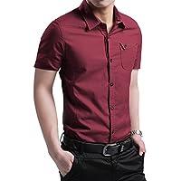 JZOEOEU Men's Casual Dress Shirt Long Short Sleeve Slim Fit Button Down Shirts