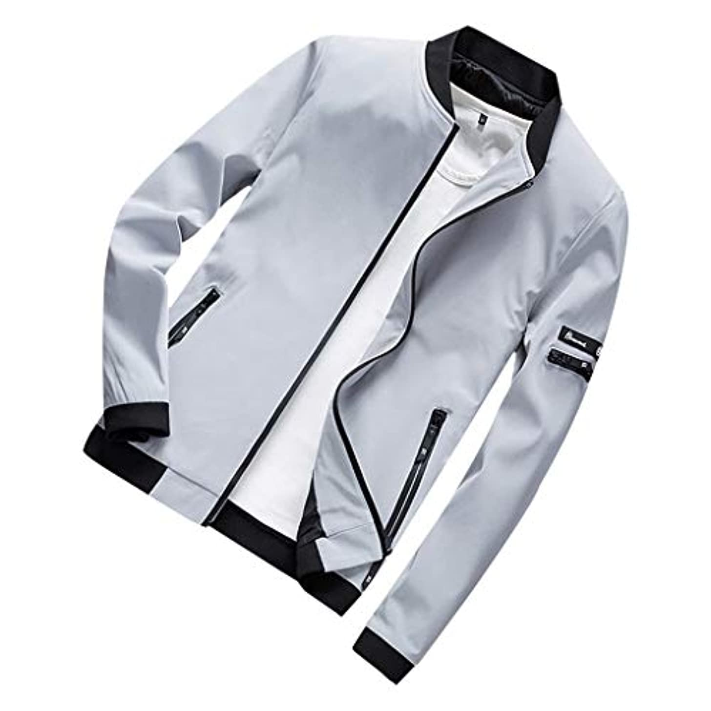 情緒的ピラミッド内向きジャケット メンズ コート ブルゾン 秋 冬 防水 無地 カジュアル 綿 大きいサイズ アウター 黒 ストレッチ ビジネスシャツ 細身 ジャケット