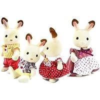 輸入カリコクリッターズシルバニアファミリーアメリカ限定 Calico Critters Hopscotch Rabbit Family [並行輸入品]