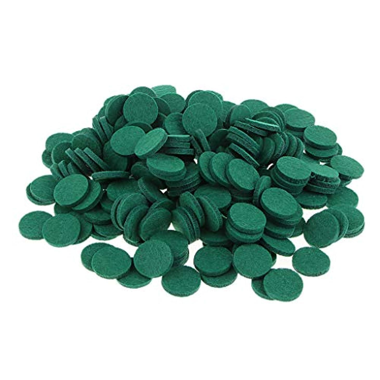 期待してテレマコス感じる約200個入り 詰め替えパッド 精油付き アロマディフューザー 交換用 オイルパッド 全11色 - 緑