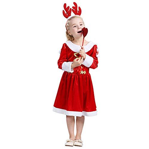73a115f53117f クリスマス 衣装 子供 仮装 3点セット コスチューム ワンピース ドレス サンタ キッズ 演出服 可愛い 暖か素材 プレゼント クリスマスパーティー  イベント 赤 レッド ...