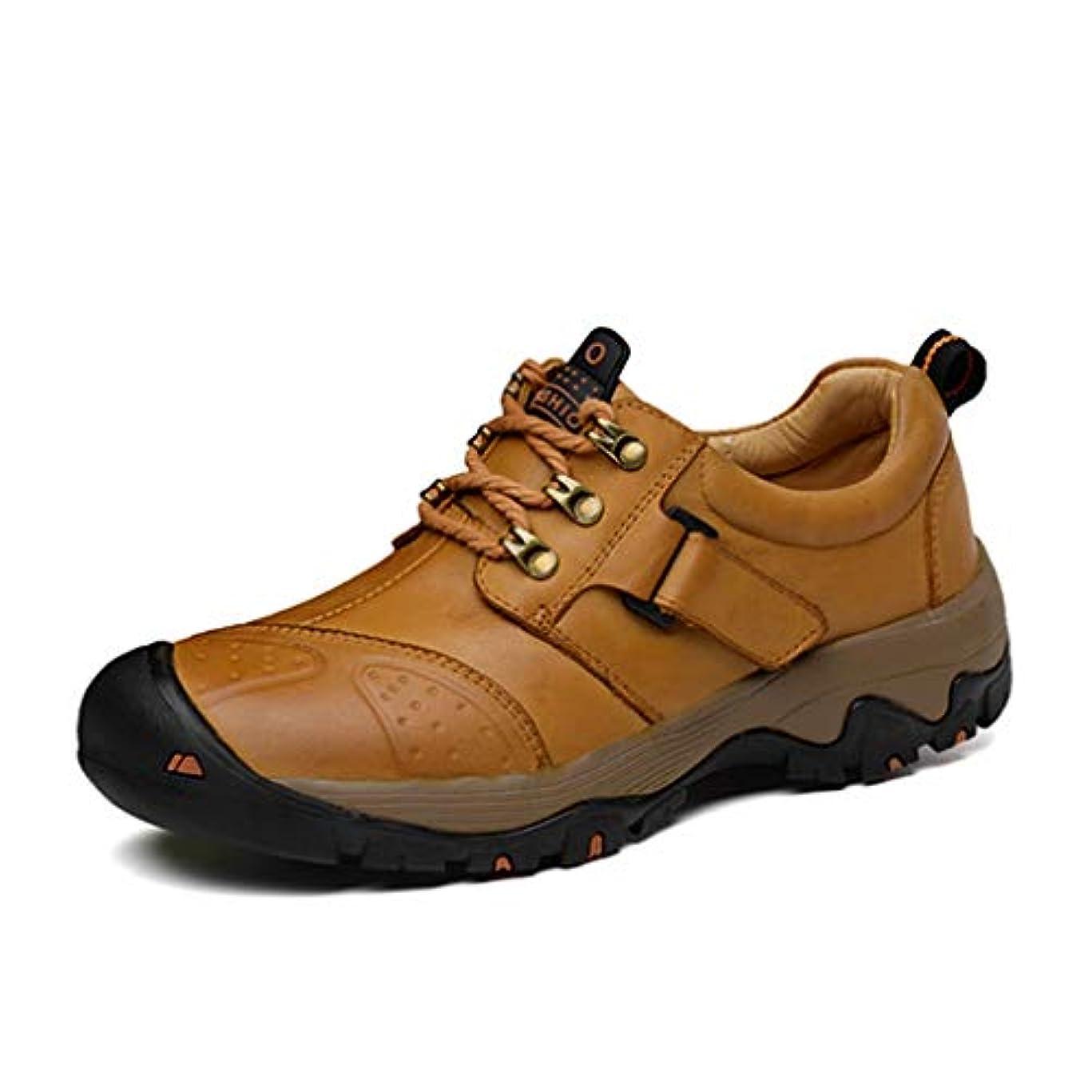 利点人柄送金[Dong] メンズローカットクライミングシューズ 通気性 スリッポン コンフォートシューズ防水 防臭 本革 幅広 柔軟 スニーカー ウォーキング シューズ アウトドアおしゃれ スポーツ 靴 大きいサイズ走れる