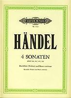 HAENDEL - Sonatas (4) (HWV:360, 362, 365 y 369) para Flauta de Pico Alto (Violin) (Cello) y BC(Wohel)