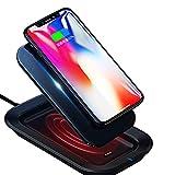 モバイルバッテリー Qi ワイヤレス充電 10000mAh 急速充電 無線充電器 2つ入力ポート 置くだけ充電 3台同時充電Galaxy Note 8/S8/S7/Note 5/S6 Edge/iPhone 8/8 Plus/iphoneX/Galaxy Note8/S8/S8+/S7 対応 …