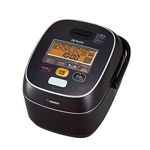 象印 炊飯器 5.5合 圧力IH式 極め炊き 鉄器コートプラチナ厚釜 ブラウン NW-JA10-TA