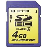 ELECOM SDHCメモリカード Class4 4GB MF-FSDH04G