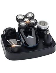 ひげそり 電動 メンズシェーバー,USB充電式 5 in 1 髭剃り 電気シェーバー IPX7防水 多機能 お風呂剃りドライ両用 電気シェーバー 旅行用·家庭用