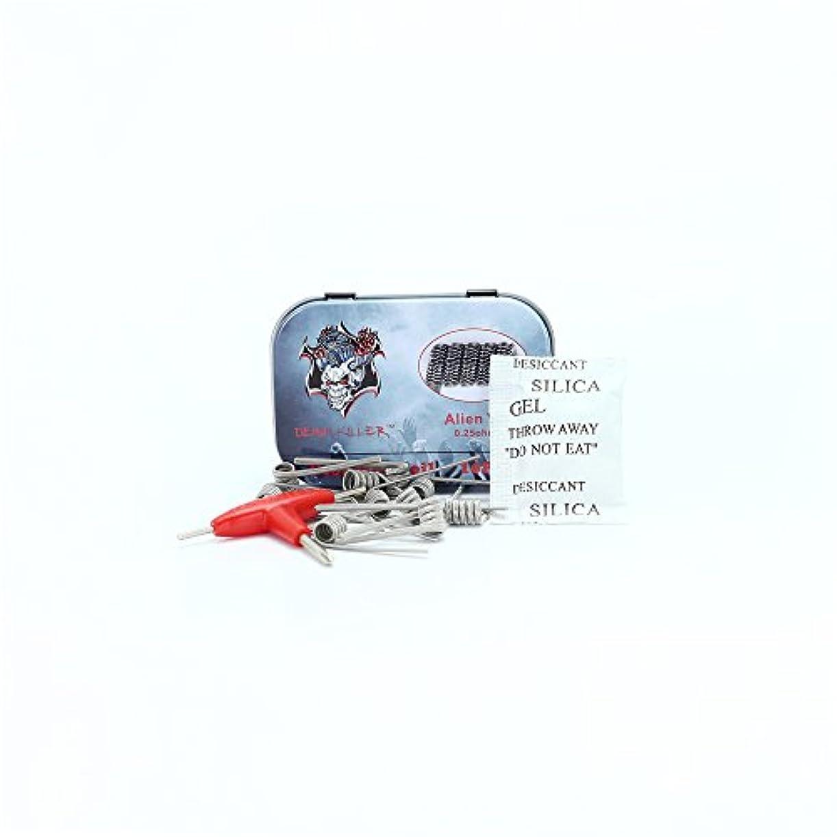 交換いじめっ子メイエラ10pcs Demon Killer Alien V2 Coil 0.25 ohmの暖房ワイヤRBA/RDA/RTA, アトマイザーコイルワイヤ, コイルワイヤ, リビルダブル用, ノッチコイル, プリビルドコイル, 10...
