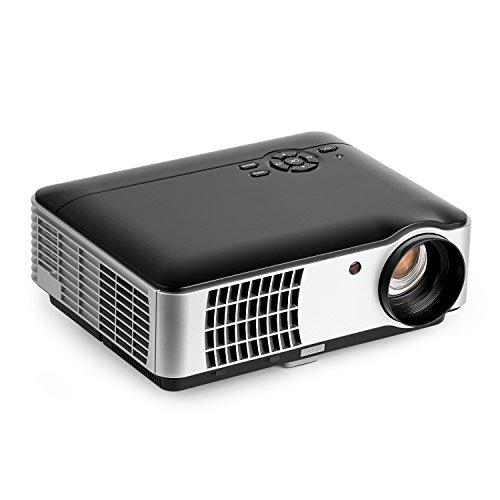 OCDAY プロジェクター 2800ルーメン 解像度 1280*800 1080P 日本語説明書HD HDMI/VGA/AV/USB/SDカード対応 タブレット・スマホ入力可能 リモコン付き ホームシアター・シネマ RD-806A