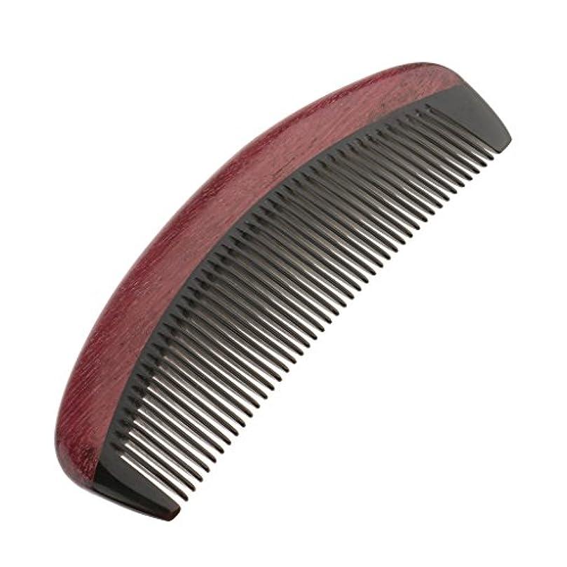 リーフレット掻く不完全木製マッサージ櫛 コーム ヘアブラシ ワイド歯