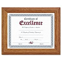 Dax ® Steppedソリッド木製ドキュメント/証明書フレームフレーム、8.5X 11、steppedoak (パックof5)