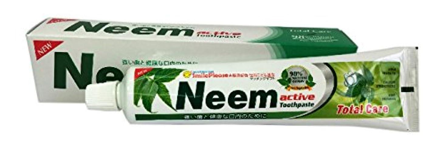 柱染色権限を与えるニームアクティブ歯磨き粉 200g