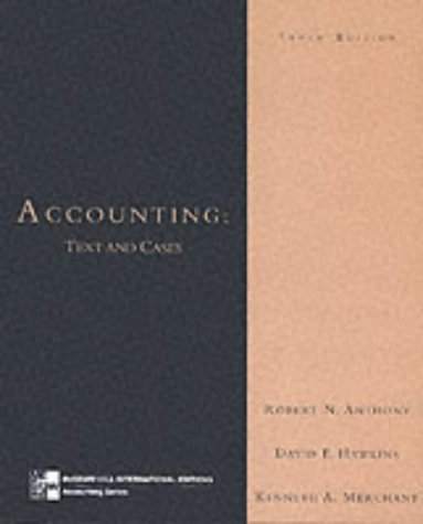 accounting texts and cases by robert anthony david hawkins kenneth merchant Accounting: texts and cases (irwin accounting) (13th edition) by david f hawkins , kenneth a merchant , robert n anthony hardcover , 944 pages, published 2010.