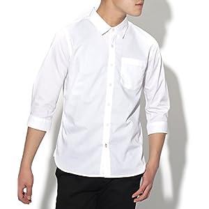 (リピード) REPIDO シャツ メンズ 七分袖 ストレッチ ブロード 7分袖 ワイシャツ 高密度 ホワイト XLサイズ