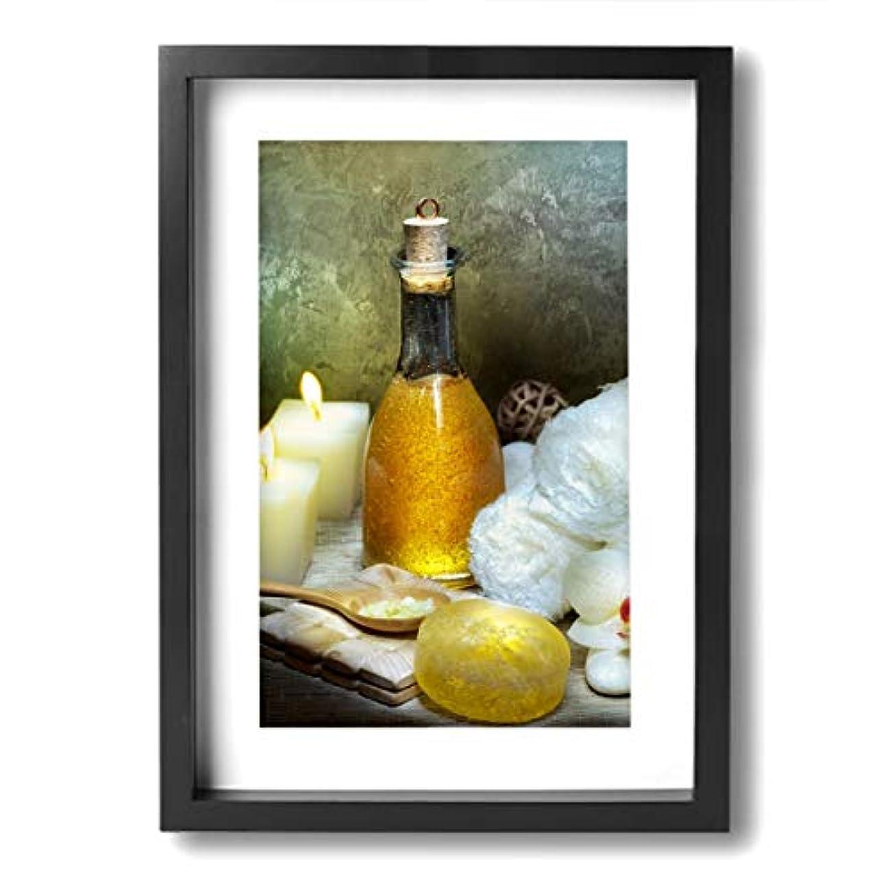 フェリー排他的公爵魅力的な芸術 20x30cm Flower Candle Peace Spa Relax キャンバスの壁アート 画像プリント絵画リビングルームの壁の装飾と家の装飾のための現代アートワークハングする準備ができて