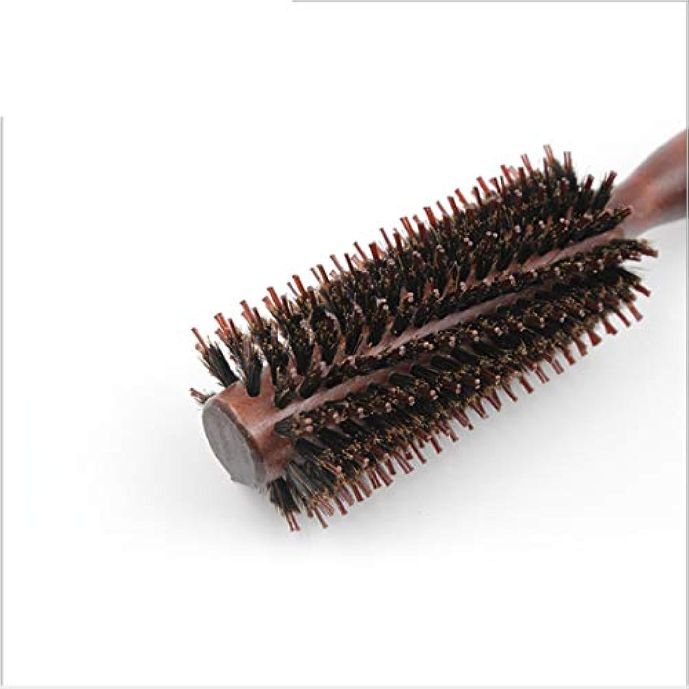 またはどちらか急いで浮く23センチメートル長い尖ったハンドルラウンドブラシ、ツイルとストレートコーム - ヘアドライヤーと男性と女性のためのナチュラル木製ハンドルヘアブラシとカール - 乾燥スタイル、巻き毛と乾いた髪 ヘアケア (サイズ : Till-S)