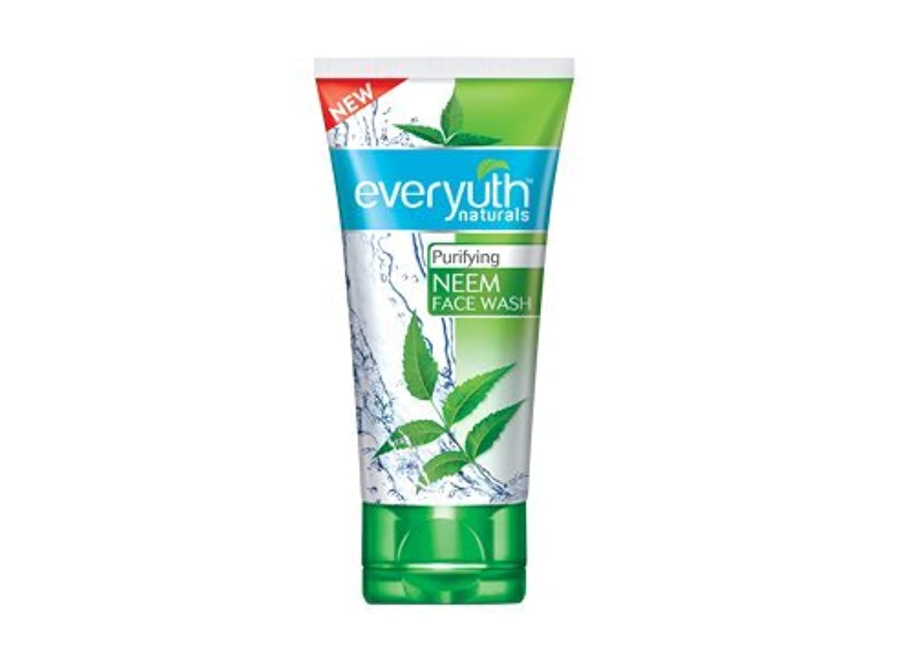 略奪かろうじて彼女のEveryuth Naturals Purifying Neem Face Wash 50 Gm
