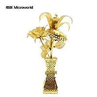 [Microworld]恋人のプレゼント 3Dメタルパズル ロマンチックな花 モデルキット Z010 DIY立体レーザーカットモデルおもちゃアダルト
