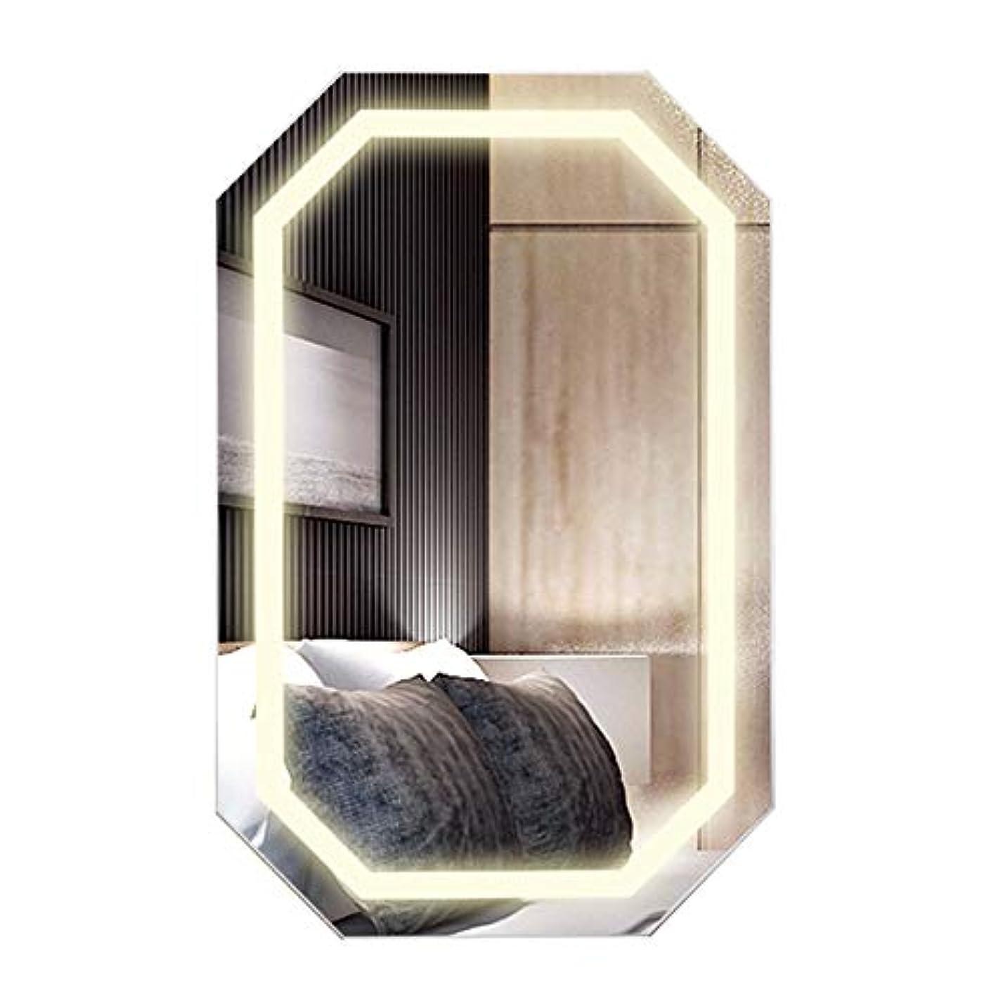 マリン配置生活化粧品ホルダー、壁掛け化粧鏡、寝室浴室多機能ストレージミラーキャビネット、木製家庭用スマートLedランプジュエリーキャビネットNayang Store