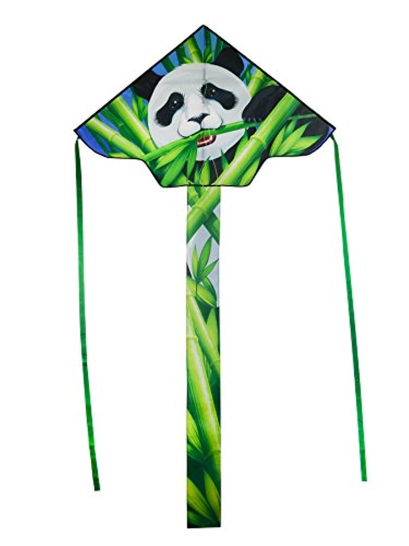 In the Breeze Panda 110cm Fly-Hi Kite - Panda Bear Theme Single Line Kite - Ripstop Fabric - Kite Line and Bag Included