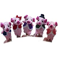 Baby Early Education Toys Gift -VIASA Pink Pigs Finger Puppet Plush Child 5pcs