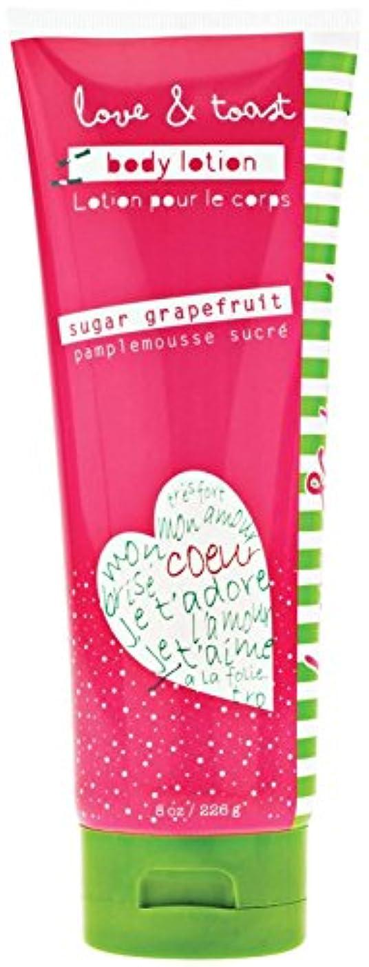 海峡リス成功Love & Toast by Margot Elena, Body Lotion, Sugar Grapefruit, 8 oz (226 g)