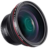 Neewer 58MM 0.43x Professional HD Wide Angle Lens (Macro Portion) for Canon EOS Rebel 77D T7i T6s T6i T6 T5i T5 T4i T3i T3 SL