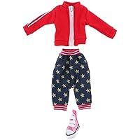 Lovoski  人形 可愛い コート パンツ  キャンバス  ハイトップ シューズ 12インチブライスドール対応 装飾