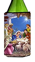 Carolines Treasures APH5603LITERK The Wise Men at the Nativity Christmas Wine Bottle Can cooler Hugger