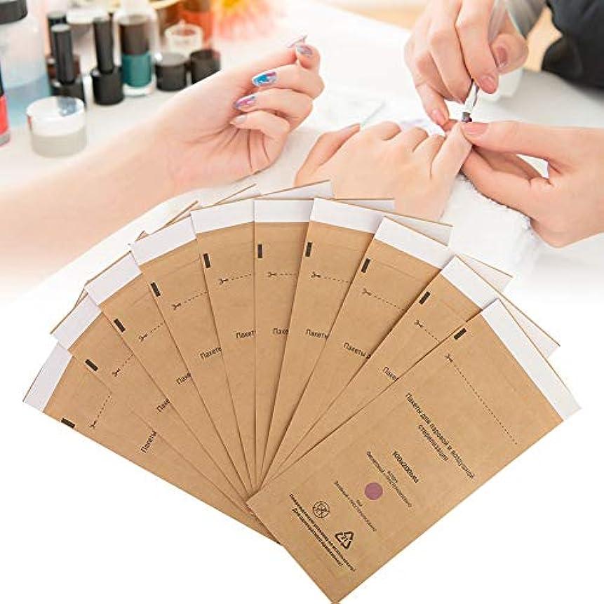 書道すべき繁栄する使い捨て 滅菌化粧品 ネイルツールバッグ 消毒機アクセサリー 10個