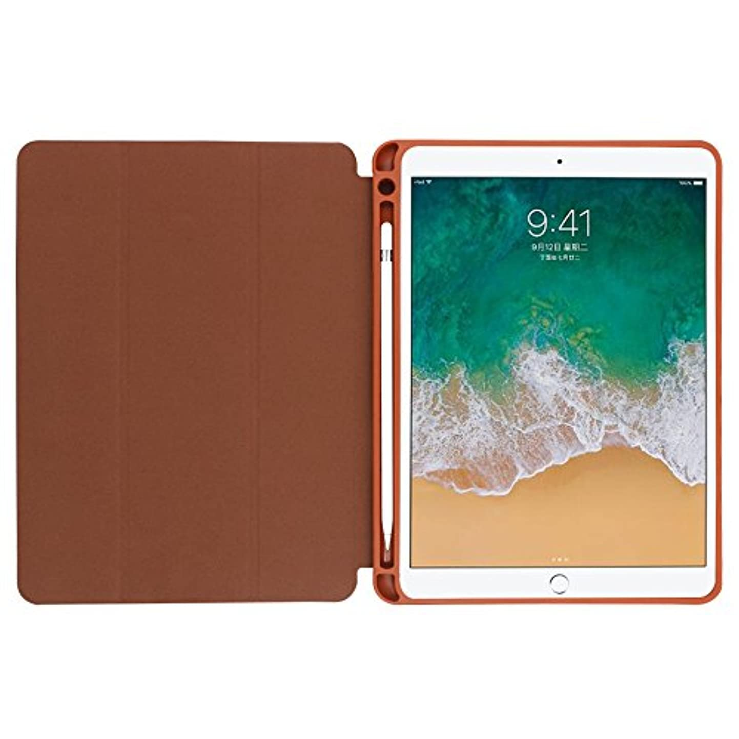 アクションブランド醸造所XIHAMA iPad Pro 12.9 ケース Apple Pencil収納可能 スタンド機能 iPad Pro 12.9 インチ 三つ折スタンド 軽量 薄型 保護カバー 手帳型 ケース 2017(モデル番号A1670、A1671)/2015年版専用に対応 (12.9インチ, ブラウン)