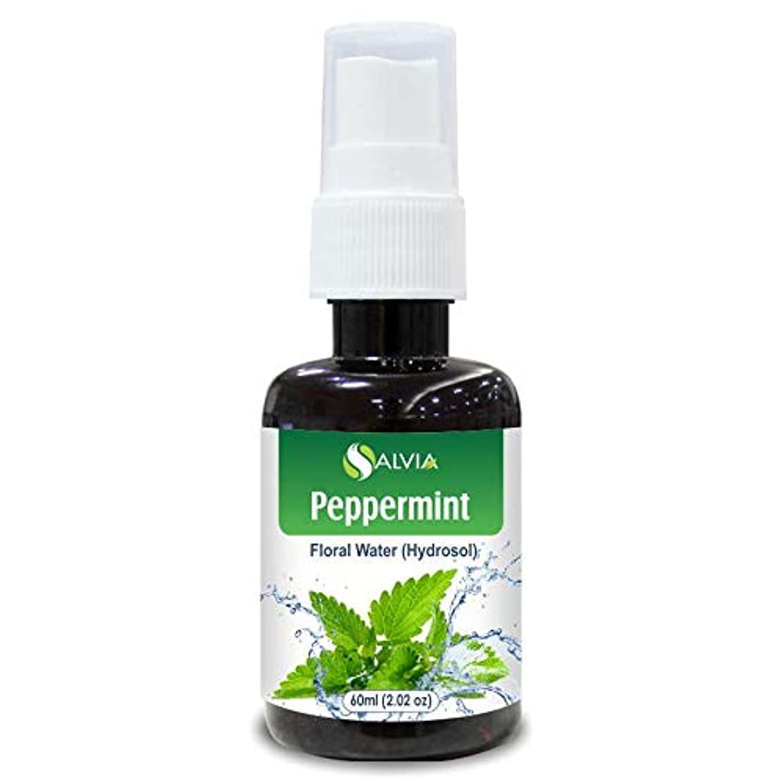 十代有毒なキャリアPeppermint Floral Water 60ml (Hydrosol) 100% Pure And Natural