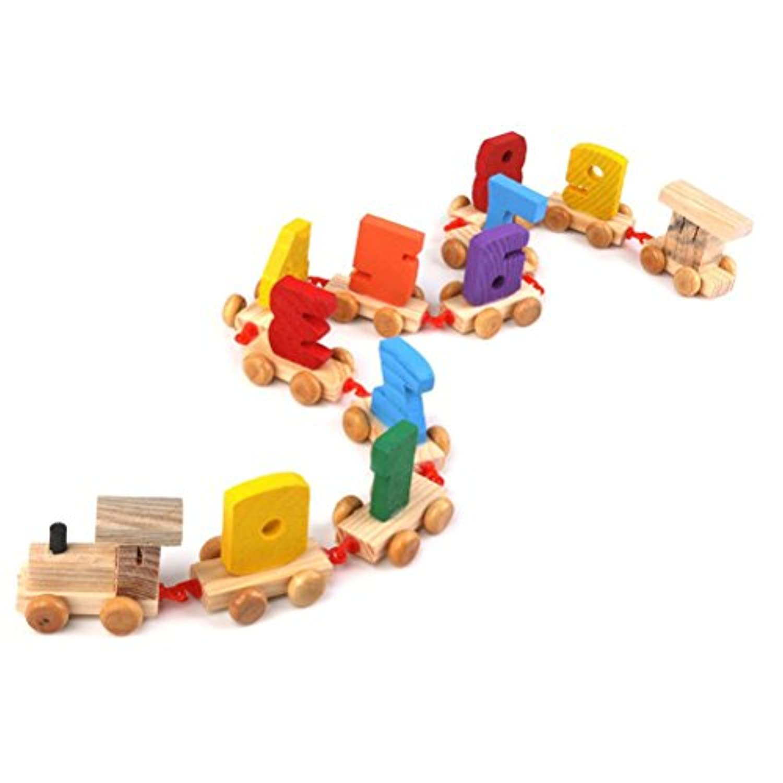 ultnice 0 – 9数子デジタル列車早期教育木製玩具