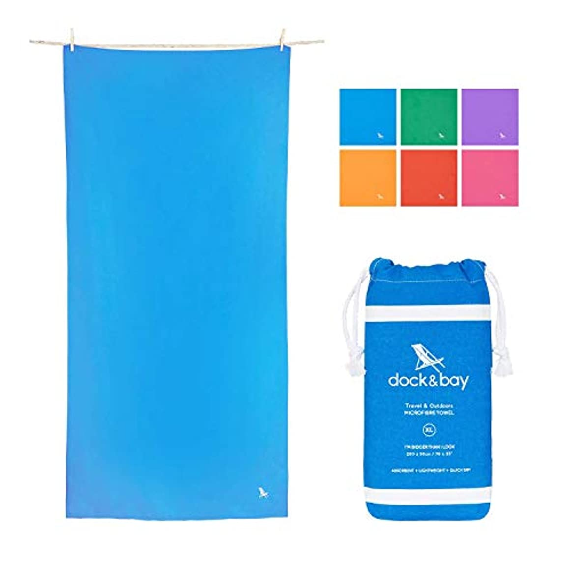 特権的トレースせっかちDock & Bay XL Microfibre Towel for Travel - Niagara Blue, 78 x 35 - Beach, Travel & Yoga - for Camping & Travel, Gym & Yoga, Beach & Boat [並行輸入品]