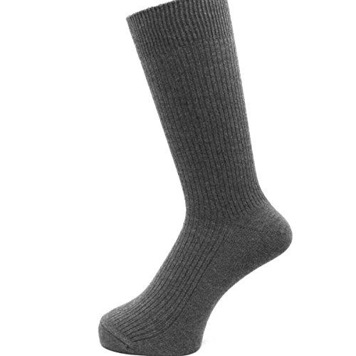 25~27cm Mサイズ 東洋紡 銀世界使用 日本製 銀イオンで除菌の靴下 リブ柄 チャコールグレー 5足セット
