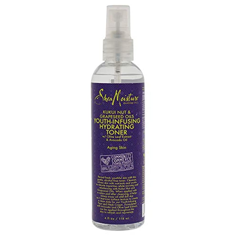 ディスカウント提出する醜いKukui Nut & Grapeseed Oils Youth-Infusing Hydrating Toner