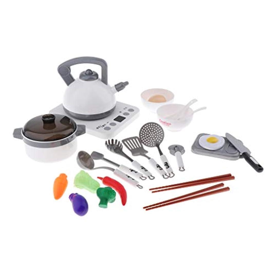 トークンご飯熟達したSM SunniMix おままごと キッチン おもちゃ 食べ物 食器セット モデル 台所用品 子供 キッズ 料理ごっこ 全8サイズ - 24ピース/個様式1
