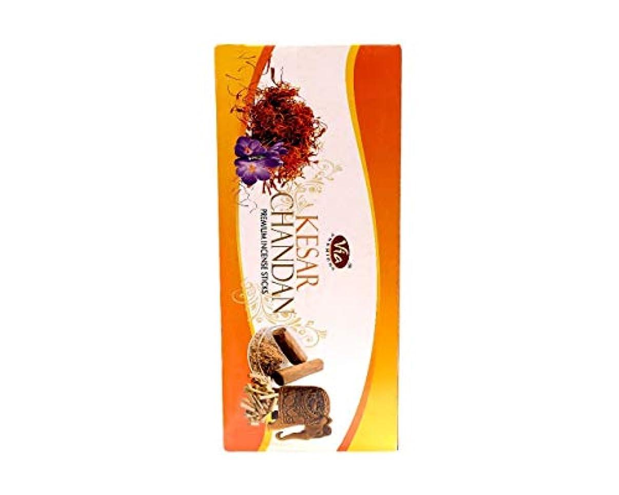 フェデレーションたくさん知っているに立ち寄るVeeana Kesar Chandan Box of 12 Packets Incense Stick