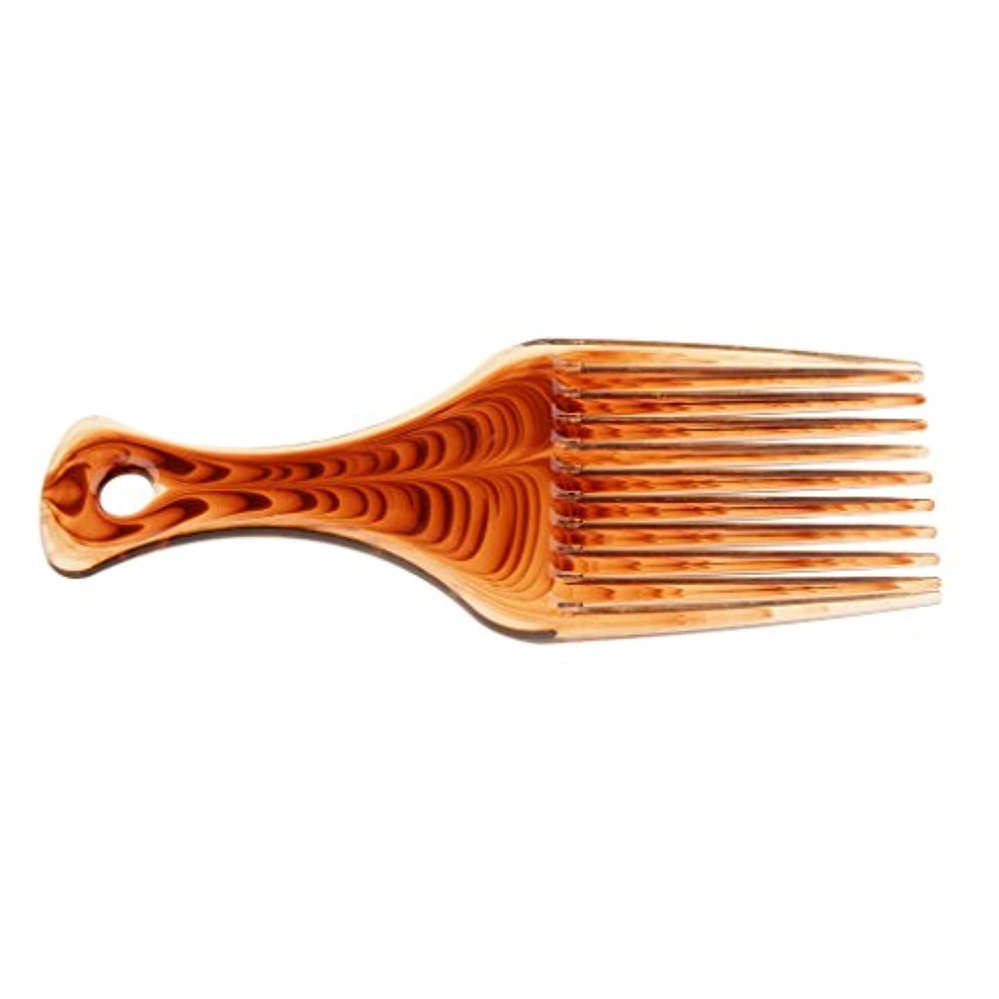 熱ごちそう遅滞Perfk ヘアブラシ 髪の櫛 プラスチック製 サロン バリバー アフロ ヘアピック ブラシ 櫛