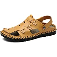 Fashion Sandals,Casual Slippers Summer Personality Beach Holiday Sandals For Man Breathable Lined Closed Toe Walking Fisherman Slipper Anti-Slip Comfortable PU Leather Upper Casual Fashion Outdoor Wil