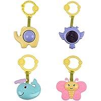 ベビーモバイル 動物玩具 4点/ロット イエロー H37